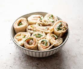 Wraps concombre et saumon fumé
