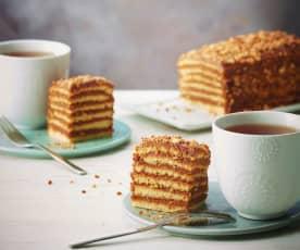 """Gâteau """"mille-feuilles"""" au praliné"""