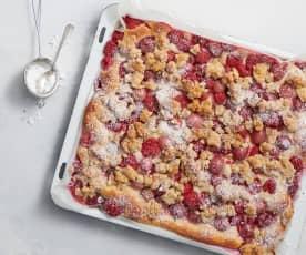 Blechkuchen mit Stachelbeeren