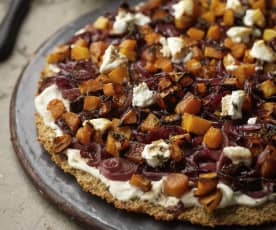 Goats Cheese and Caramelised Onion Quinoa Tart