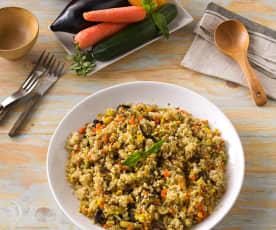 Quinoa con verduras al vapor (sin gluten)