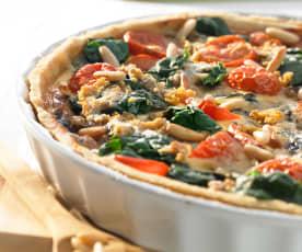 Quiche mit Spinat und Gorgonzola