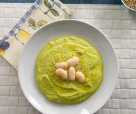 Hummus de guisantes con judiones