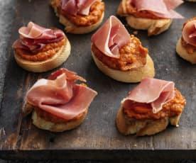 Sofrito Toasts with Serrano Ham