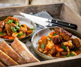 Cassoulet mit Lamm und Bohnen