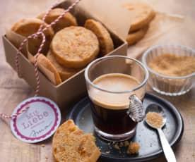 Biscotti al burro, albicocca e caffè