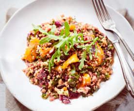 Blumenkohl-Rotkohl-Salat