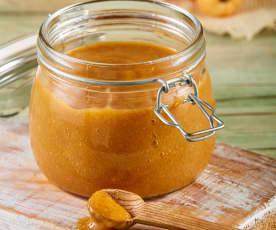 Salsa de chile habanero, tamarindo y mango
