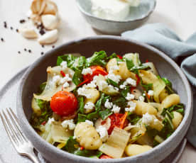 Mangold-Gnocchi-Salat