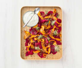 Beetroot salad with raita dressing