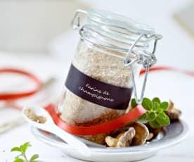 Farine de champignons