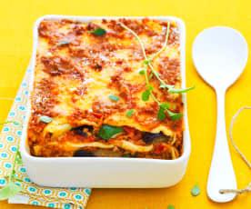 Lasagne courgettes, aubergines et tomates