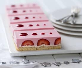 Berry marshmallow slice
