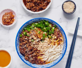 Dan dan mian (dandan noodles)