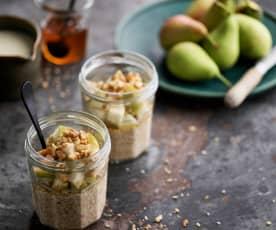 Overnight oats com pera