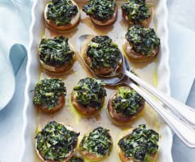 Spinach and Parmesan Stuffed Mushrooms