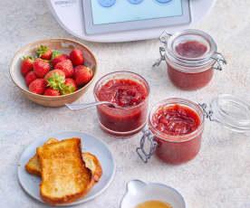 Confiture de fraise à la vanille