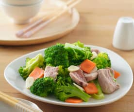 花椰菜炒豬肉