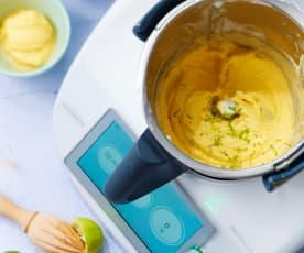 Glace express mangue et lait de coco