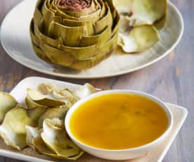 Artichokes with Garlic Tarragon Butter