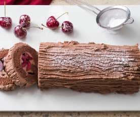 Black forest Christmas yule log