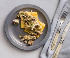 Mushroom ragu with polenta toast