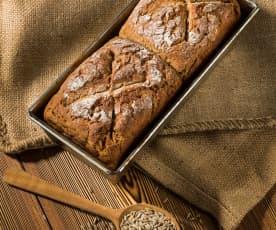 Pão duplo de centeio e espelta