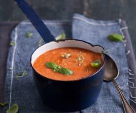 Zupa pomidorowa z ryżem i kurczakiem