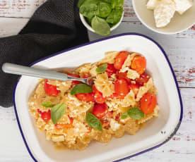 Creamy tomato and feta pasta