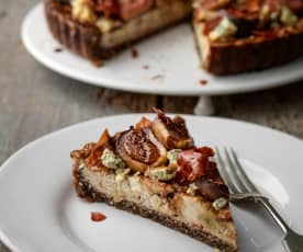 Fig, Roquefort and Prosciutto Tart