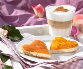 Pfirsichkonfitüre mit Holunderblütensirup