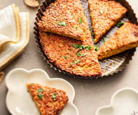 Baby-friendly Harissa Lentil and Feta Wedges