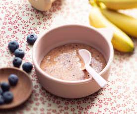 Mango, Banana and Blueberry Purée