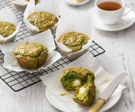 Spinach and feta muffins