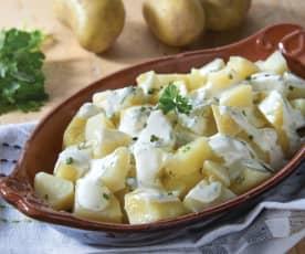 Patate con salsa allo yogurt