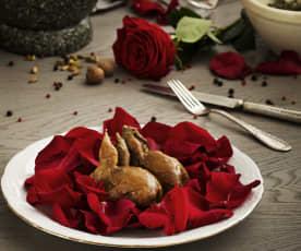Codornices en pétalos de rosa (Como agua para chocolate)