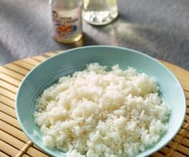 Arroz blanco para sushi (Cocción de arroz)