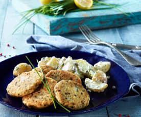 Balık Köftesi ve Kaparili Patates Salatası