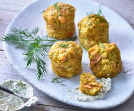Lachs-Dill-Muffins