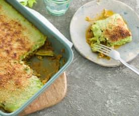Lasaña vegetal con boloñesa de soja