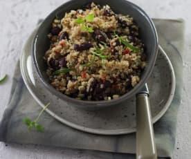 Karfiol-Bohnen-Salat schnell auf den Tisch