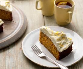 Tarta de zanahoria sin gluten (carrot cake)