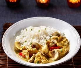 Curryhuhn mit Champignons