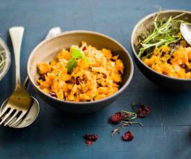 Salade asiatique de carottes, canneberges et coriandre