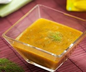 Vinaigrette à la moutarde et à l'aneth