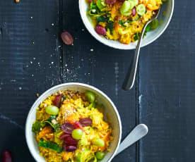 Herfstige rijst met curry