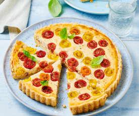 Ricotta-Tarte mit bunten Tomaten