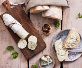 Butter with Gorgonzola and Roasted Garlic