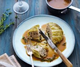 Minichoux farcis au veau, parmesan et noisettes