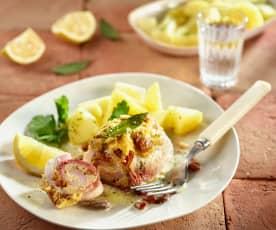Schwertfisch-Roulade sizilianisch